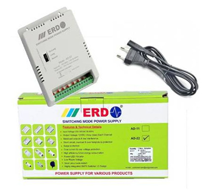 erd ad-22 cctv 8 channel power supply (grey)