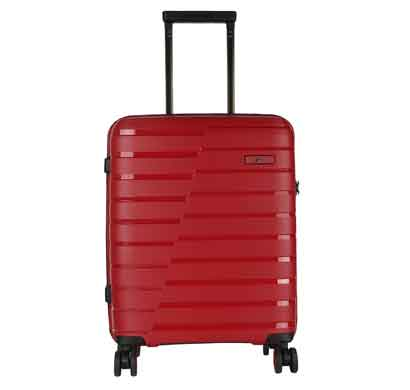 fly helium red 67 cms polypropylene hard check-in luggage 4 wheels trolley bag suitcase