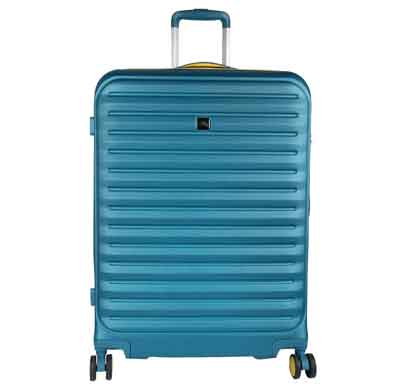 fly raptor turquoise 56 cms polycarbonate cabin luggage 4 wheels hard suitcase trolley