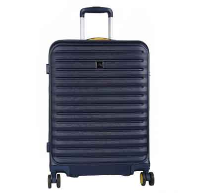 fly raptor navy 56 cms polycarbonate cabin luggage 4 wheels hard suitcase trolley bag