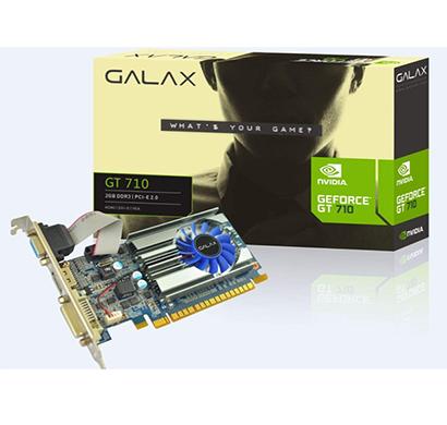 galax nvidia geforce gt 710 2gb gddr3 64-bit hdmi/dvi-d/vga graphic card
