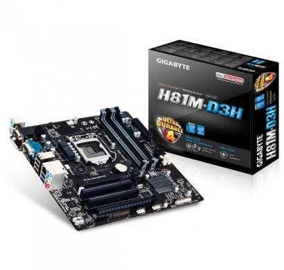 gigabyte ga-h81m-d3h micro atx intel motherboard