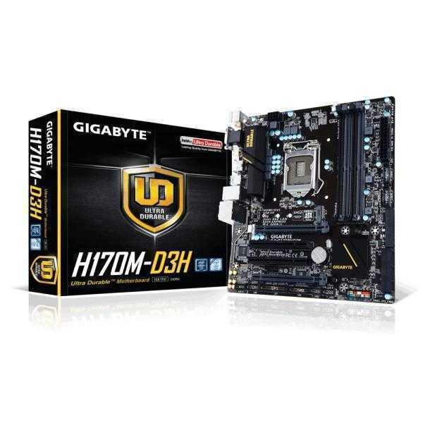 Gigabyte H170-D3H DDR4 - 6th Generation Motherboard (H170 Chipset, LGA1151, DDR4, ATX Form Factor)