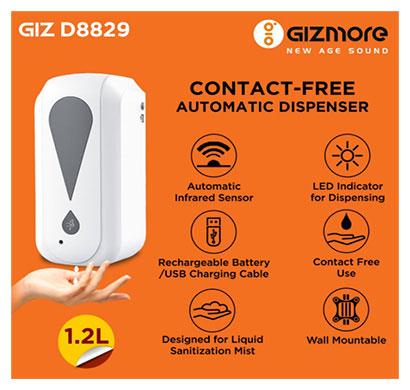 gizmore d8829 contactfree automatic dispenser 1.2 ltr