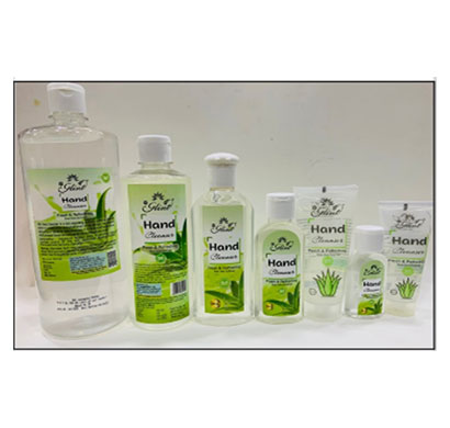 glint aloevera hand cleanser gel 67% alcohol (5000ml)