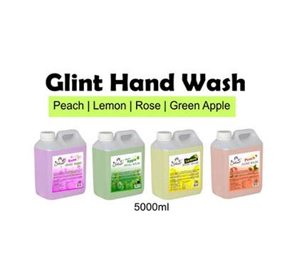 glint hand wash 5000ml ( peach, lemon, rose, green apple)