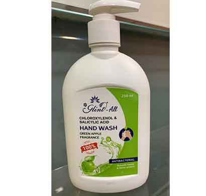 glint hand wash antibacterial 250 ml (green apple)