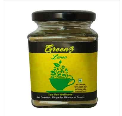 greenz lemon herbal tea (60 gm)
