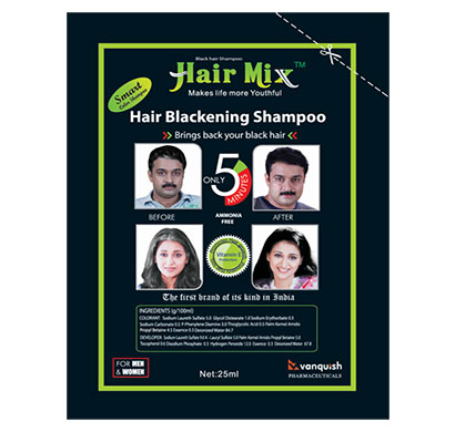 hairmix 5 minutes instant hair color shampoo