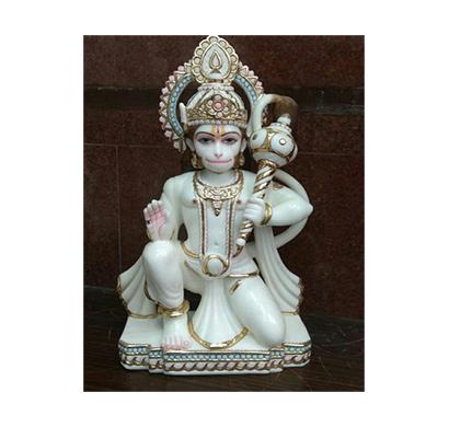 hanuman white marble murti