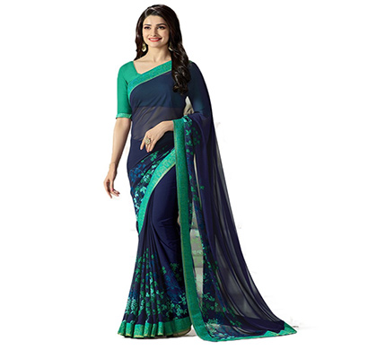 hasti fashion women saree (6.30mtr),blue