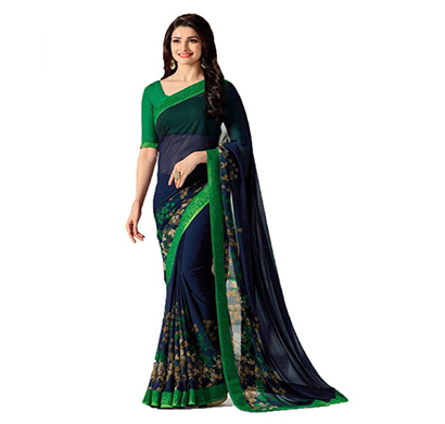 hasti fashion women saree (6.30mtr),blue green