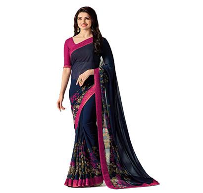 hasti fashion women saree (6.30mtr),blue pink