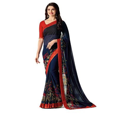 hasti fashion women saree (6.30mtr),blue red