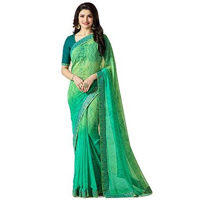 hasti fashion women saree (6.30mtr),green