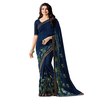 hasti fashion women saree (6.30mtr),mehndi blue