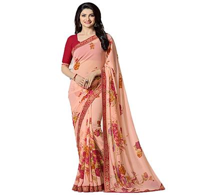 hasti fashion women saree (6.30mtr),peach