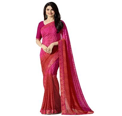 hasti fashion women saree (6.30mtr),pink