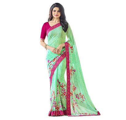 hasti fashion women saree (6.30mtr),see green