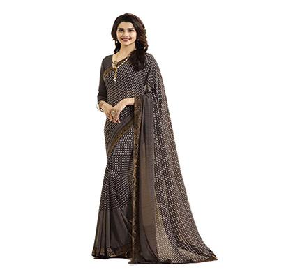 hasti fashion women saree (6.30mtr), brown