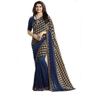 hasti fashion women saree (6.30mtr),drak blue