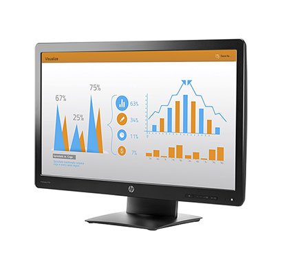 hp prodisplay p232 23-inch monitor with vga and display cable/ 3 years warranty