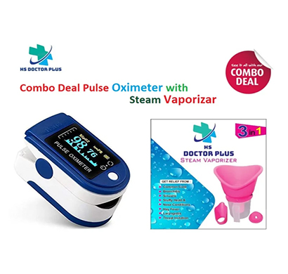 hs doctor plus combo deal pulse oximeter with steam vaporizer 0.2 a vaporizer (assorted)