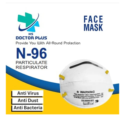 hs doctor plus (n-96) face mask 6 layer mask for all (white)
