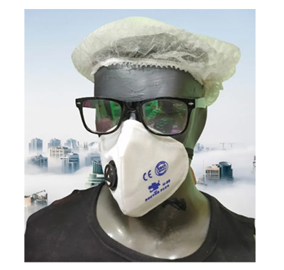 hs doctor plus n-95 face mask washable mask for unisex (white)