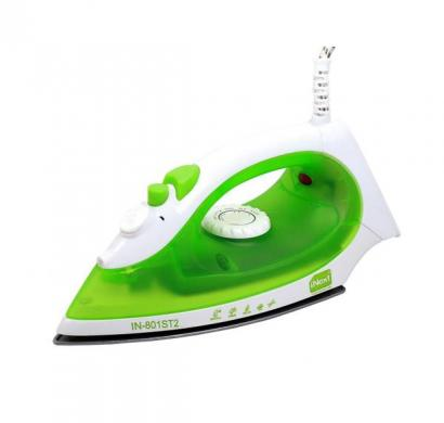 inext in-801st2 1200 w steam iron eco technology (white & green)
