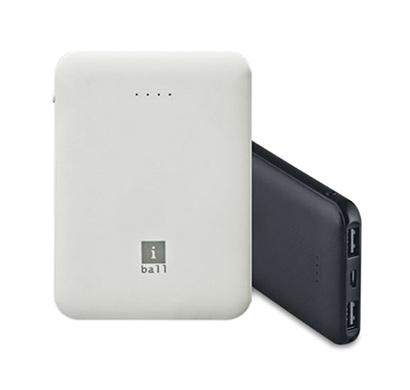 iball (ib-5000lps) 5000 mah powerbank, dual usb output