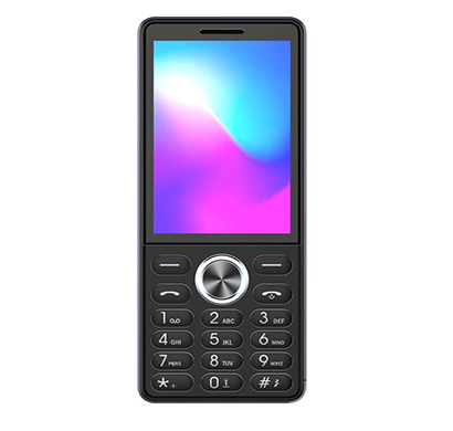 ikall k6300 new feature phone (2.8 inch display, triple sim, vibration, 2mp camera mobile), multicolor