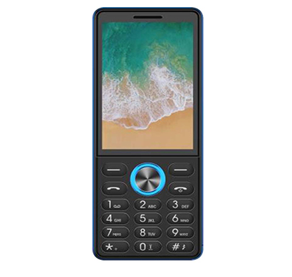 ikall k555 feature phone (2.8 inch display, triple sim, vibration and 12 inbuilt games phone), multicolor