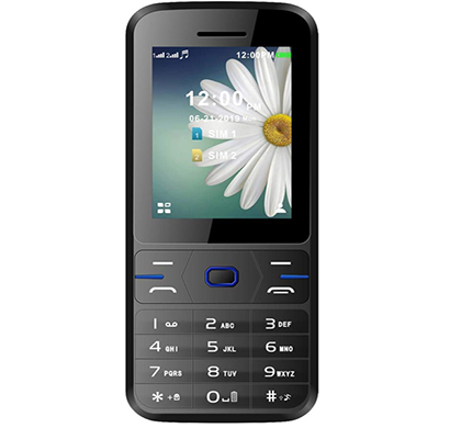 ikall k64 feature phone (multimedia ,dual sim, 1.8 inch display, mobile with 1000 mah battery camera and big torch light),multicolor