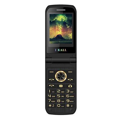 ikall k60 feature phone ( 2.4 inch display, dual sim, 1500 mah battery, 0.3mp camera, call recording, multimedia flip mobile), multicolor