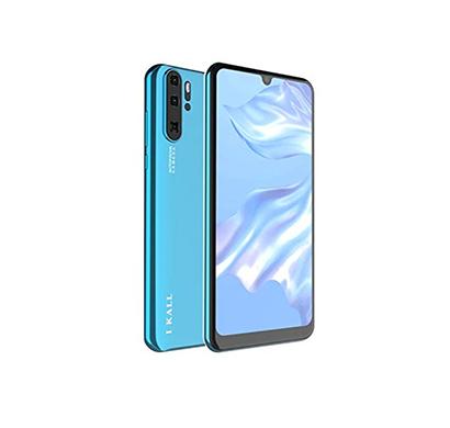 ikall k6 smartphone with 6.26 waterdrop display (4gb ram, 32gb internal memory, dual sim 4g + 4g volte) (blue)