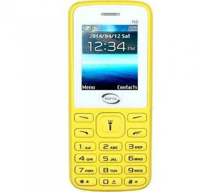 infix n6 dual sim multimedia with facebook (yellow)