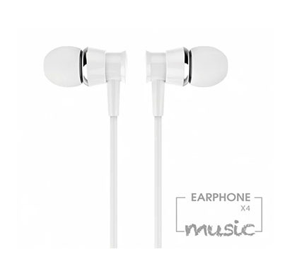 jellico (x4-a) wired earphone / 1.2 mtr length/ stereo earphones with mic