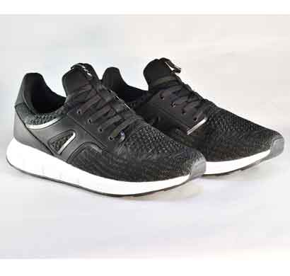 lakhani sports shoes dark gray black for men (star 03)