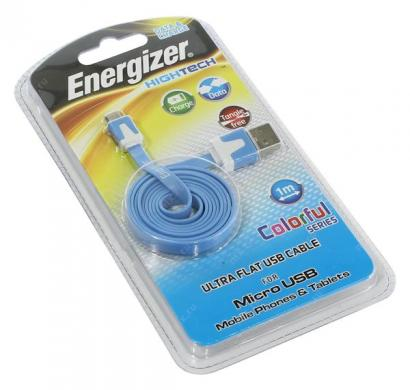 energizer hightech ultra flat  micro-usb cable charge + data - blue