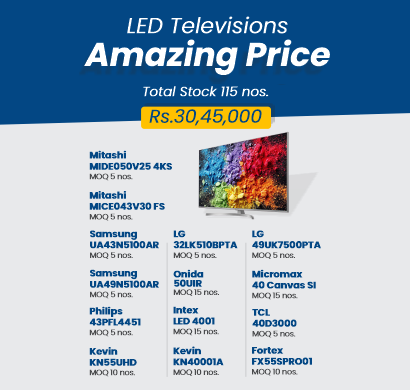 led televisions in bulk - lot a