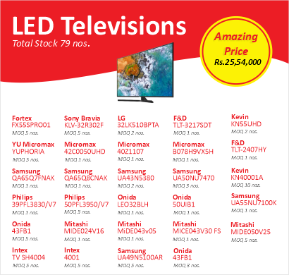 led televisions in bulk - lot b