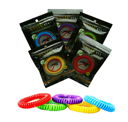 leevme eva anti mosquito bracelet 100% natural for 10 days use ( multicolour)
