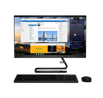 lenovo ideacentre a340 (f0e800ssin) all-in-one desktop (intel core i5/ 10th gen/ 8gb ram/ 1tb hdd + 256gb ssd/ windows 10 + ms office/ with dvdrw/ 23.8 inch display/ 3 years warranty), black