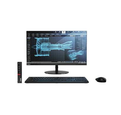 lenovo tiny m720q (10t8sk6a00) desktop (intel core-i5/ 9th-gen/ 8 gb ram/ 1 tb hdd/ dos/ 19.5 inch monitor) 3 years warranty