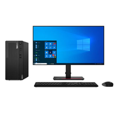 Lenovo M80T (11EKS01V00) Desktop Pc (Intel Core I3-10100/ 10th Gen/ Q470 Chipset/ 4GB RAM/ 1TB HDD/ DOS/ 19.5-inch Monitor/ NO ODD), 3 Years Warranty