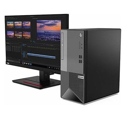 lenovo v50t (11hd0022ih) desktop ( intel core i3/ 10th gen/ 4gb ram/ 1tb hdd/ dos/ 18.5 inch monitor) 3 years warranty