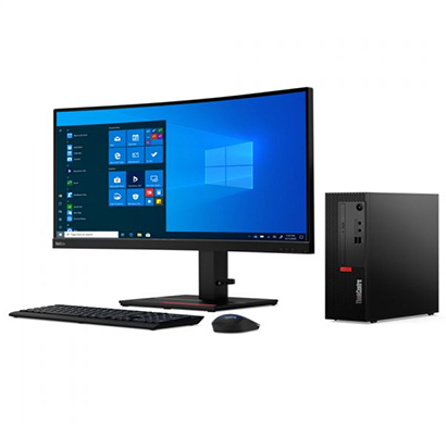 lenovo m70q gen-2 (11my0026ih) desktop (intel core i3-10105t/ 10th gen/ 4gb ram/ 1tb hdd/ dos/ 18.5