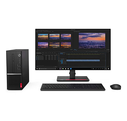lenovo v530s (10tys26s00) desktop pc (intel pentium dual core g5420/ 4gb ram/ 1tb hdd/ dos/ 18.5 tft/ black), 3 years warranty