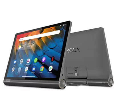lenovo yoga smart tab (za540019in) with google assistant 4gb ram/ 64gb rom/ 10.1 inch with wi-fi+4g tablet (iron grey)